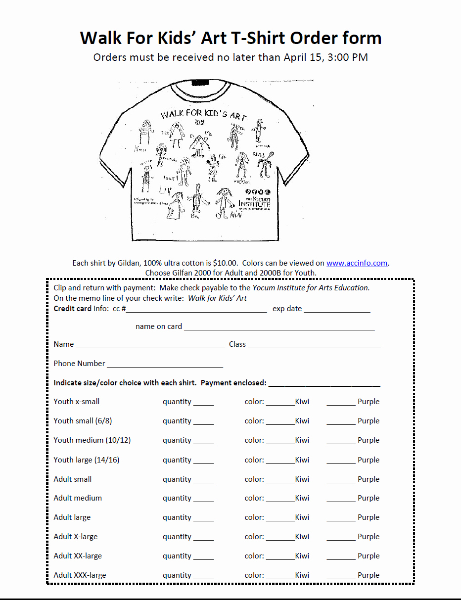 T Shirt form Template Elegant form T Shirt order form
