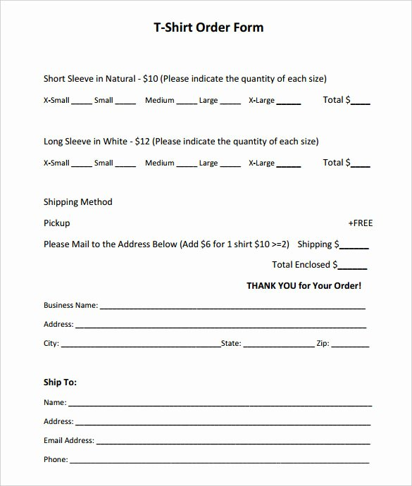 T Shirt form Template Fresh 26 T Shirt order form Templates Pdf Doc