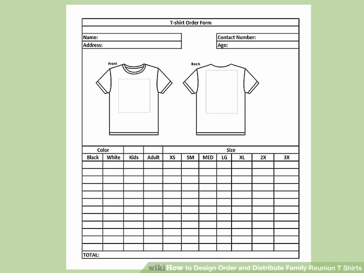 Design Order and Distribute Family Reunion T Shirts
