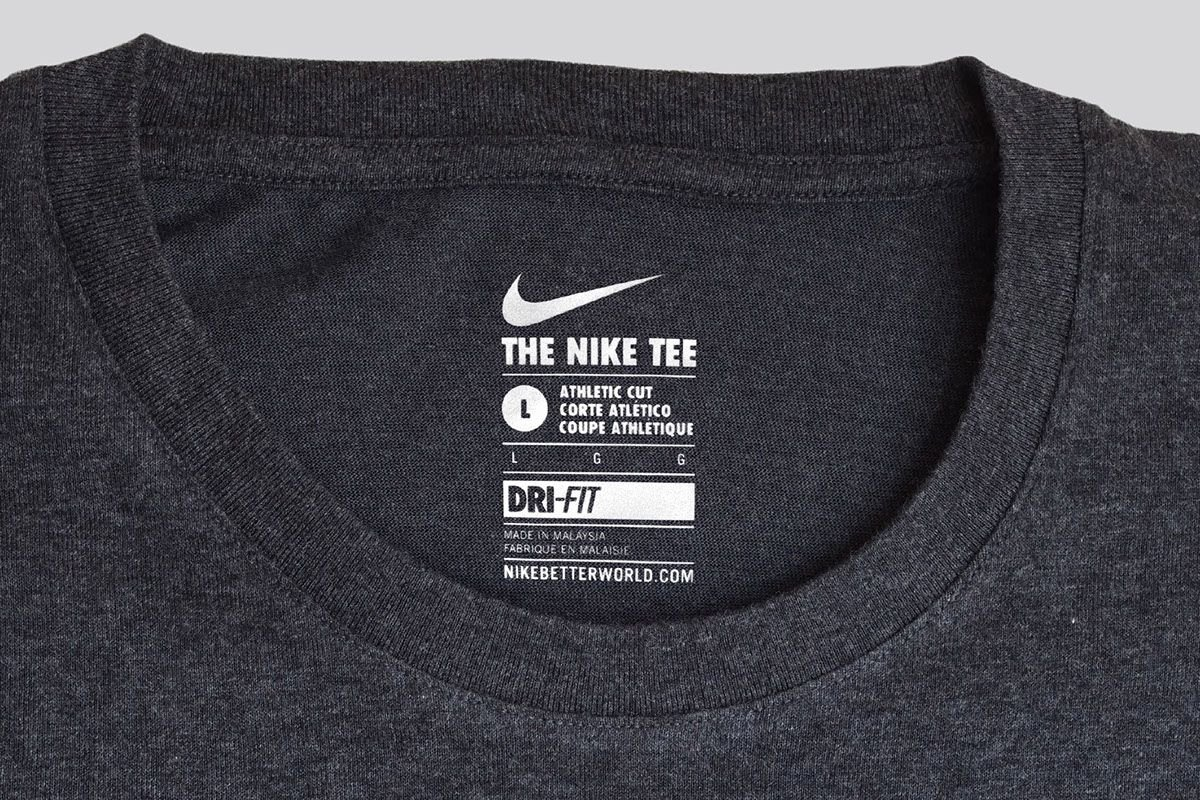 T Shirt Tag Template Inspirational Global Munication and Neck Label System for Nike