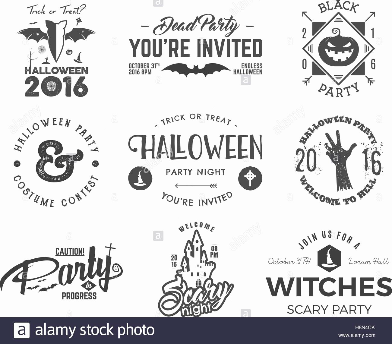 T Shirt Tag Template Lovely Halloween 2016 Party Label Templates with Scary Symbols