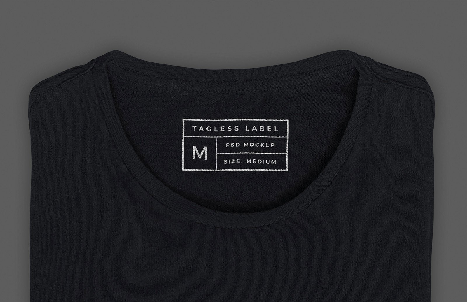T Shirt Tag Template Unique Apparel Tag Inside Label Mockup — Medialoot