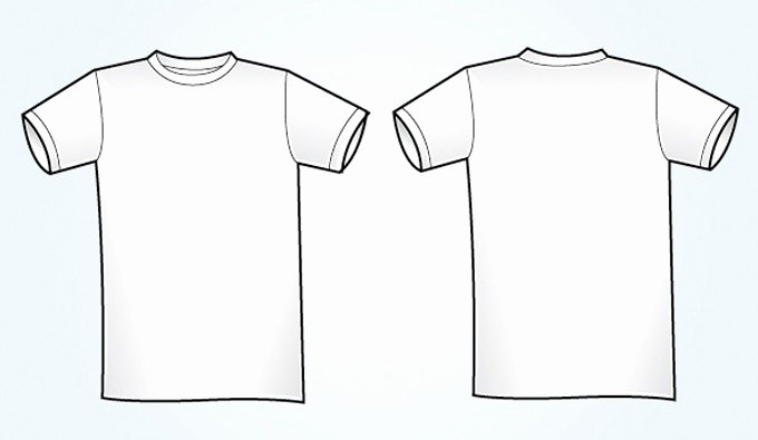 T Shirt Template Ai Awesome Blank White Vector T Shirt Template