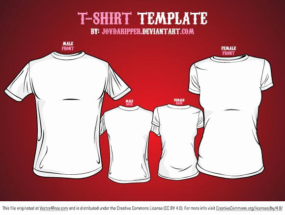 T Shirt Template Ai Awesome Free Vector T Shirt Template