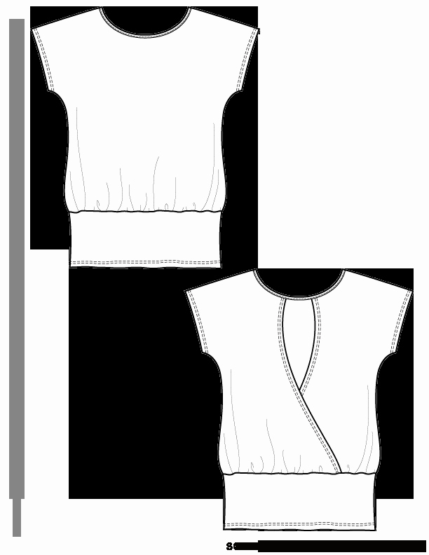 T Shirt Template Ai Unique V14 Knit Tunic T Shirt Template Free Flat Drawing