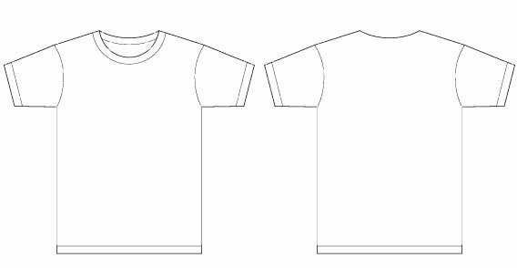 T Shirt Template Illustrator Awesome Basic Template Vector T Shirt Templates