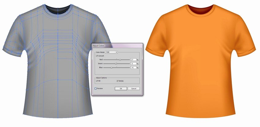 T Shirt Template Illustrator Lovely How to Create A Vector T Shirt Mockup Template In Adobe