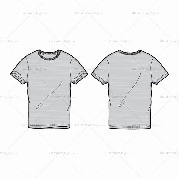 T Shirt Template Illustrator Luxury Men S Gray Round Neck T Shirt Fashion Flat Template