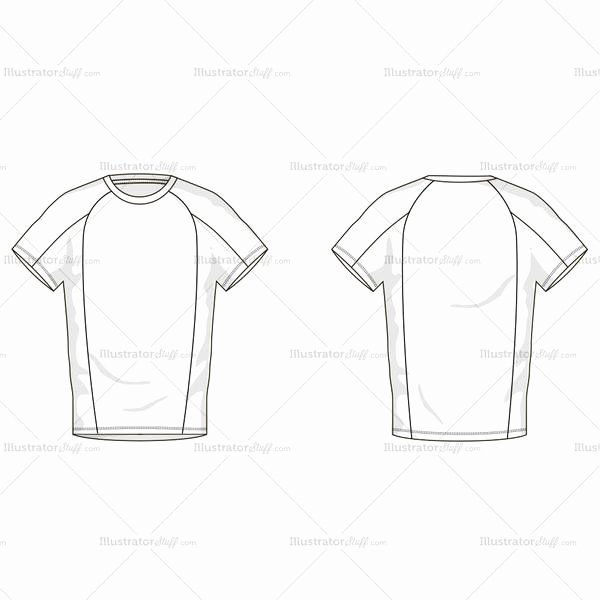 T Shirt Template Illustrator New Men S T Shirt Fashion Flat Template – Illustrator Stuff
