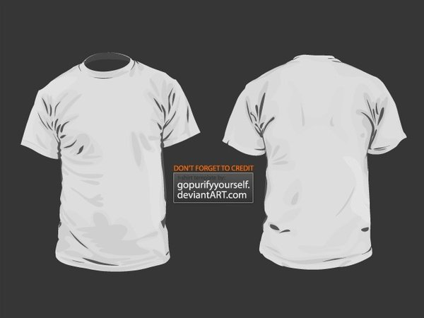 T Shirt Template Illustrator Unique T Shirt Vector Template V 2 0 Free Vector In Adobe