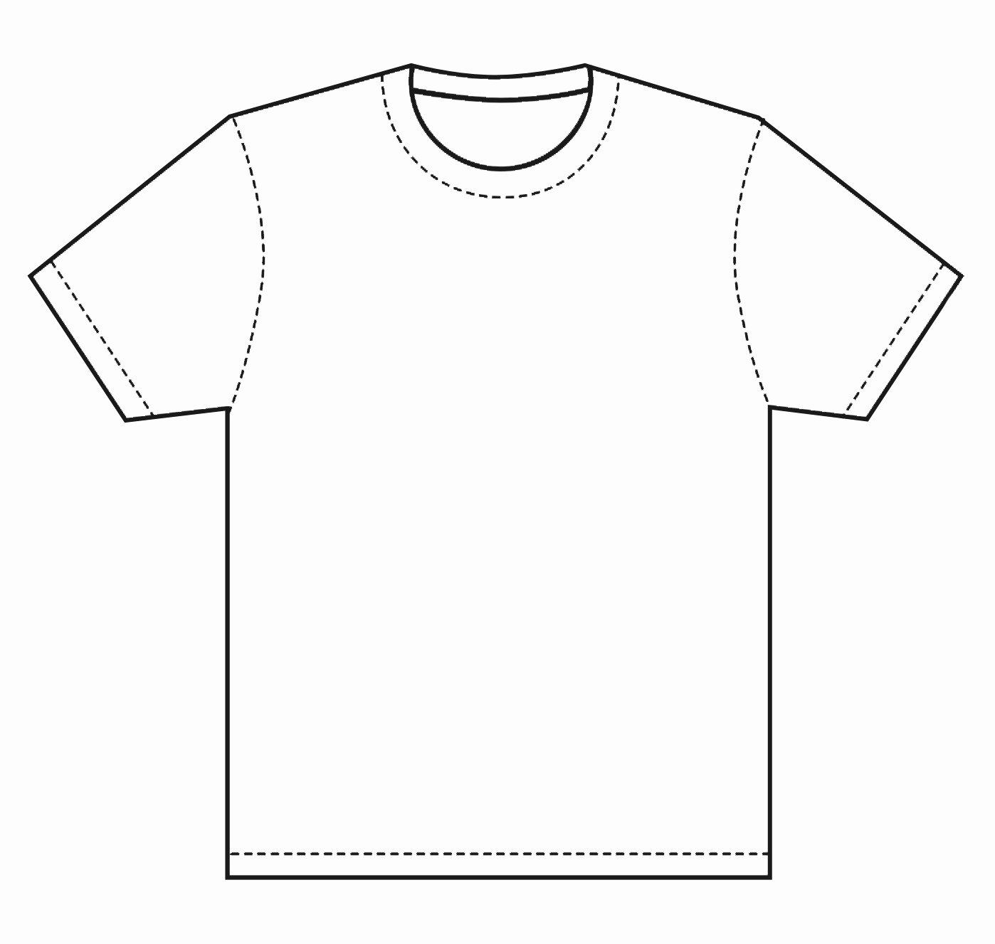 T Shirt Template Pdf Best Of Blank T Shirt Coloring Page thekindproject