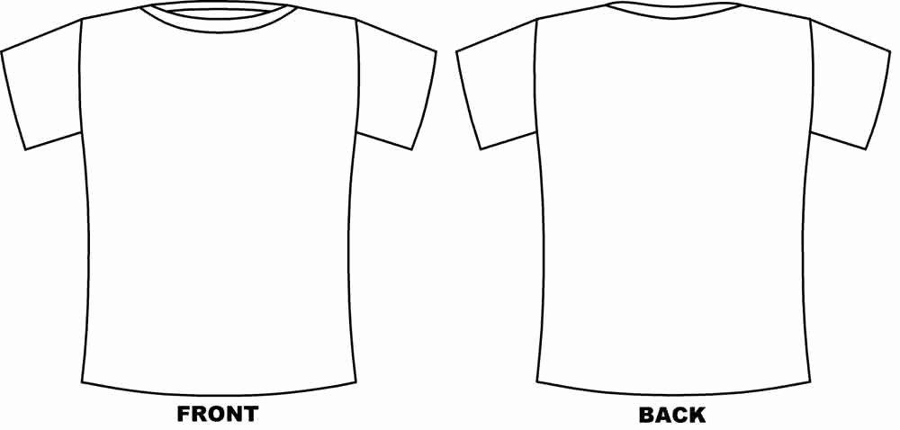 T Shirt Template Pdf Elegant Printable Tshirt Template Printable 360 Degree