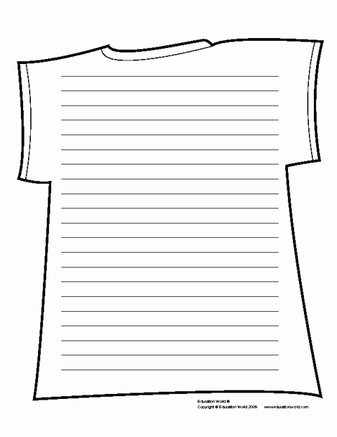 T Shirt Template Pdf Inspirational T Shirt Shapebook Lined Template Pdf