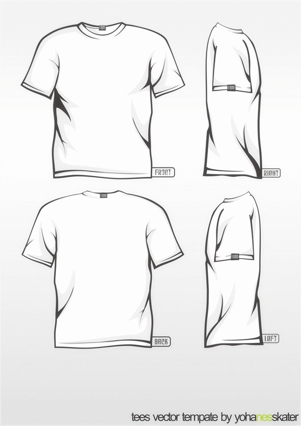 T Shirt Template Pdf Inspirational Tee Template Vector Color Changeable by Elegiyohanes On