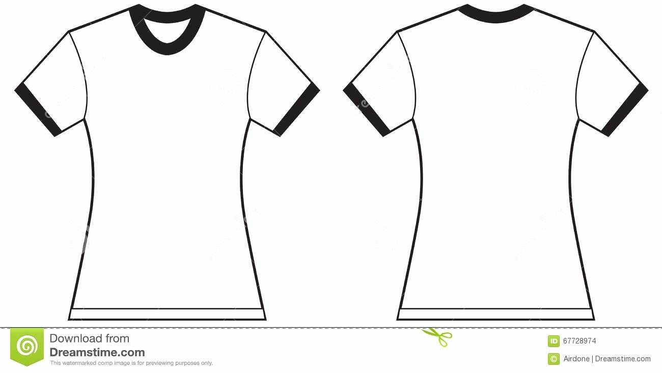 T Shirt Template Pdf Lovely Womens Shirt Template Women S T Shirt Illustration
