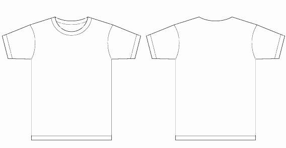 T Shirt Template Pdf New Men T Shirt Template