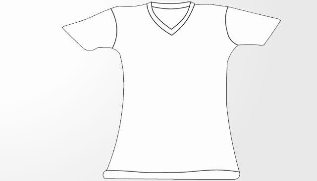 T Shirt Template Pdf Unique V Neck T Shirt Template Women Girl Pdf Shortsleeve