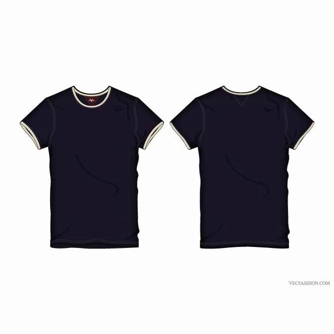 T Shirt Template Vector Elegant T Shirt Vector Illustration Download at Vectorportal