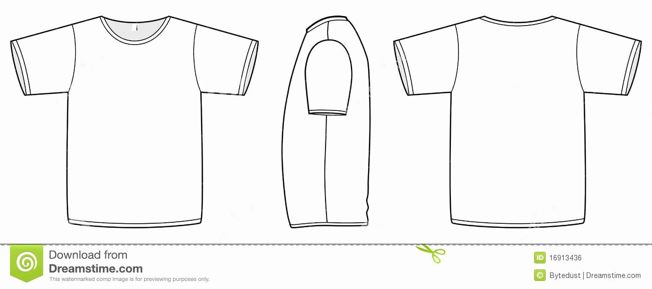 T Shirt Template Vector Lovely Basic Vector Uni T Shirt Template Illustration Stock
