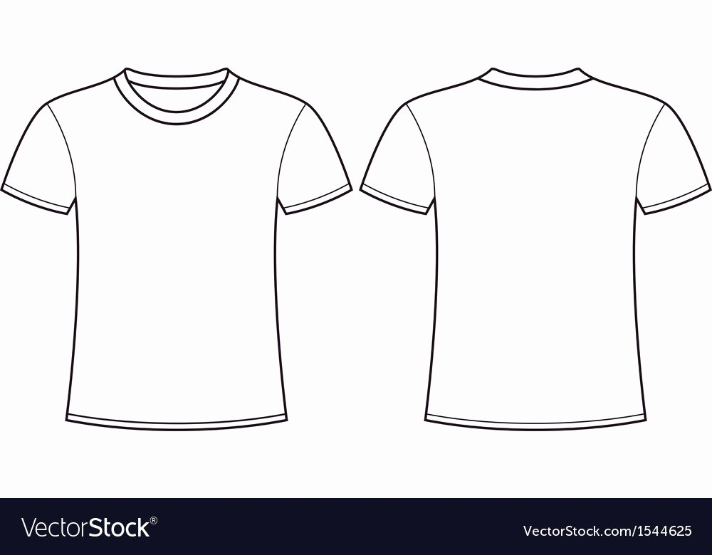 T Shirt Template Vector New Blank T Shirt Template Front and Back Royalty Free Vector