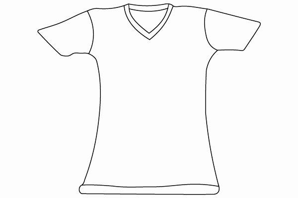T Shirt Template Vector New T Shirt Vector Template Illustrator