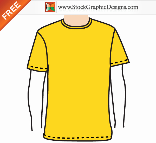 T Shirt Vector Template Awesome Apparel Men's Blank T Shirt Template Free Vector