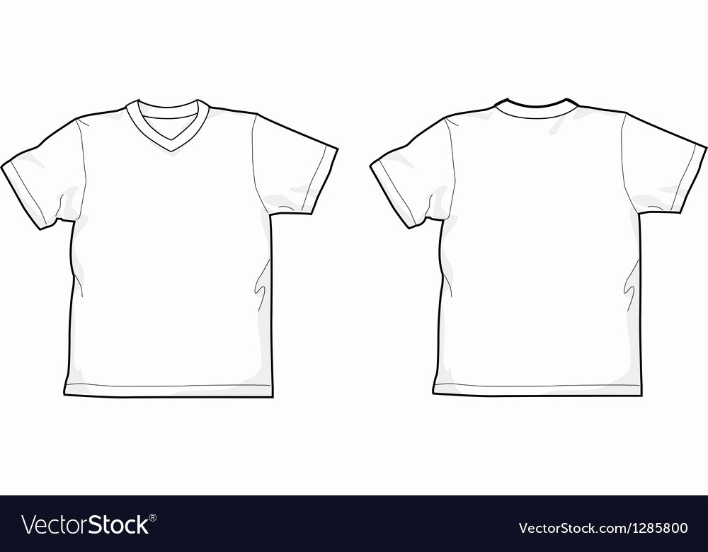 T Shirt Vector Template Awesome T Shirt V Neck Royalty Free Vector Image Vectorstock
