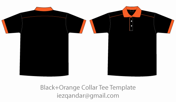 T Shirt Vector Template Fresh Free Black & orange Collar T Shirt Template