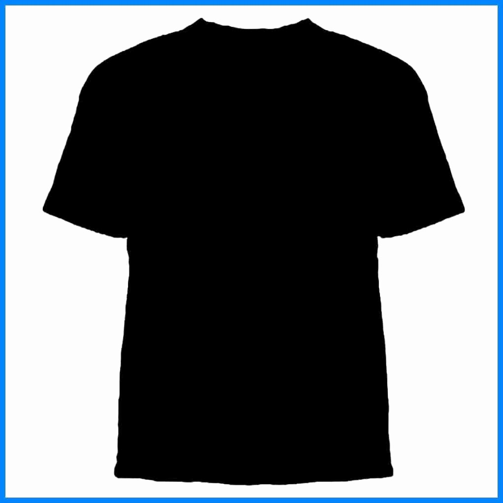 T Shirt Vector Template Fresh Plain Black T Shirt Template Back