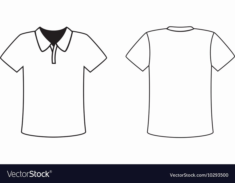 T Shirt Vector Template Inspirational Blank Front and Back Polo T Shirt Design Template Vector Image