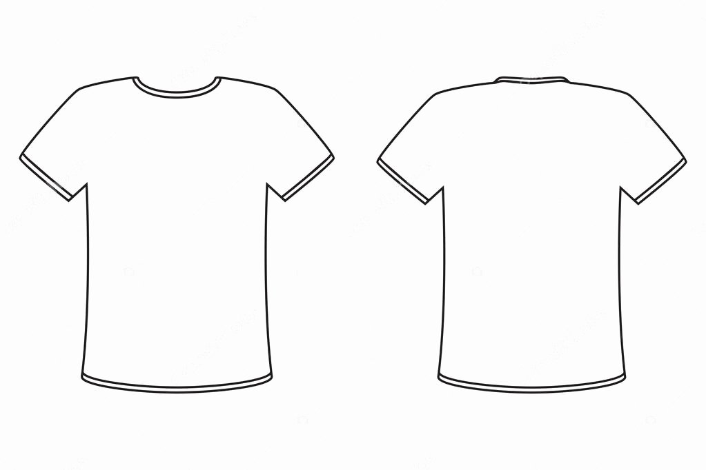 T Shirt Vector Template Inspirational Blank Tshirt Template