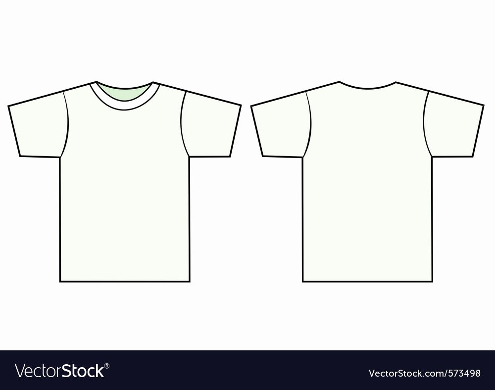 T Shirt Vector Template Lovely Uni Tshirt Template Royalty Free Vector Image