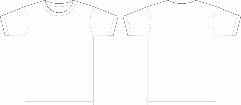 men t shirt template vector