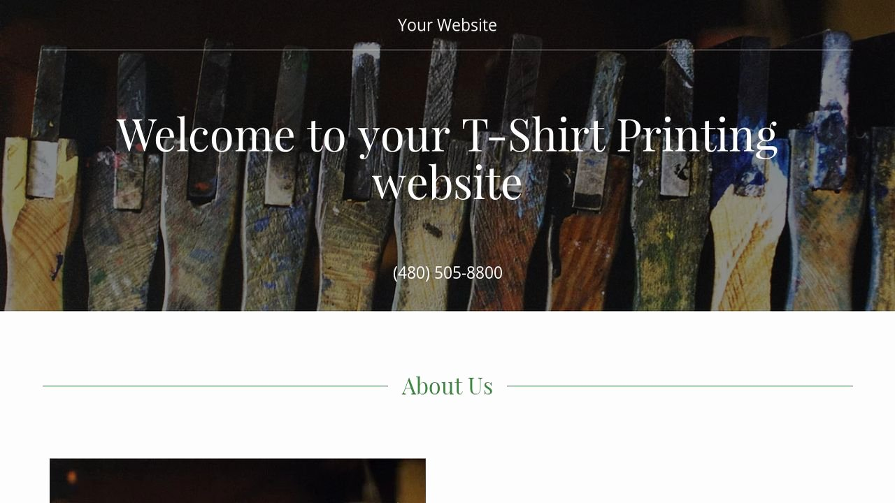 T Shirt Website Template Awesome T Shirt Printing Website Templates