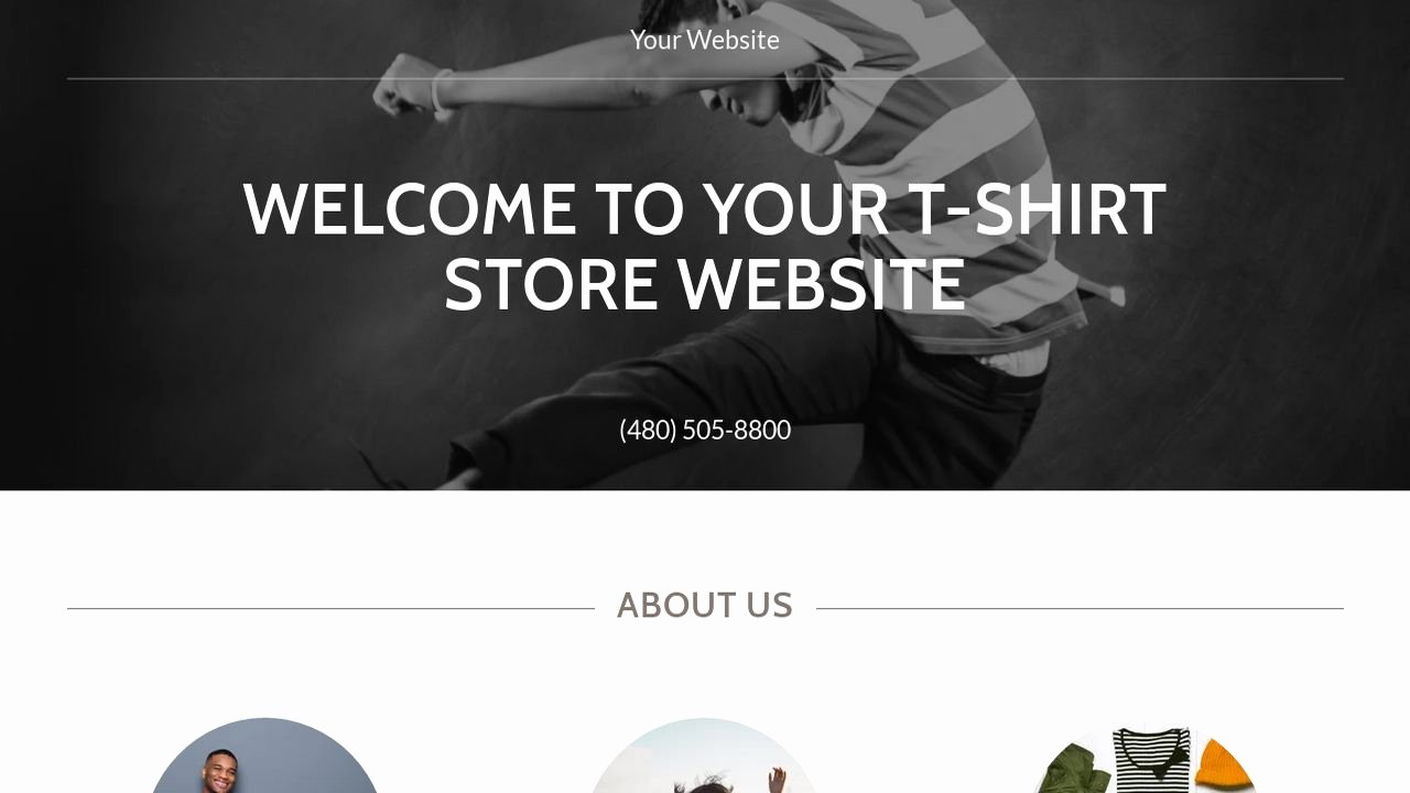 T Shirt Website Template Beautiful Example 11 T Shirt Store Website Template