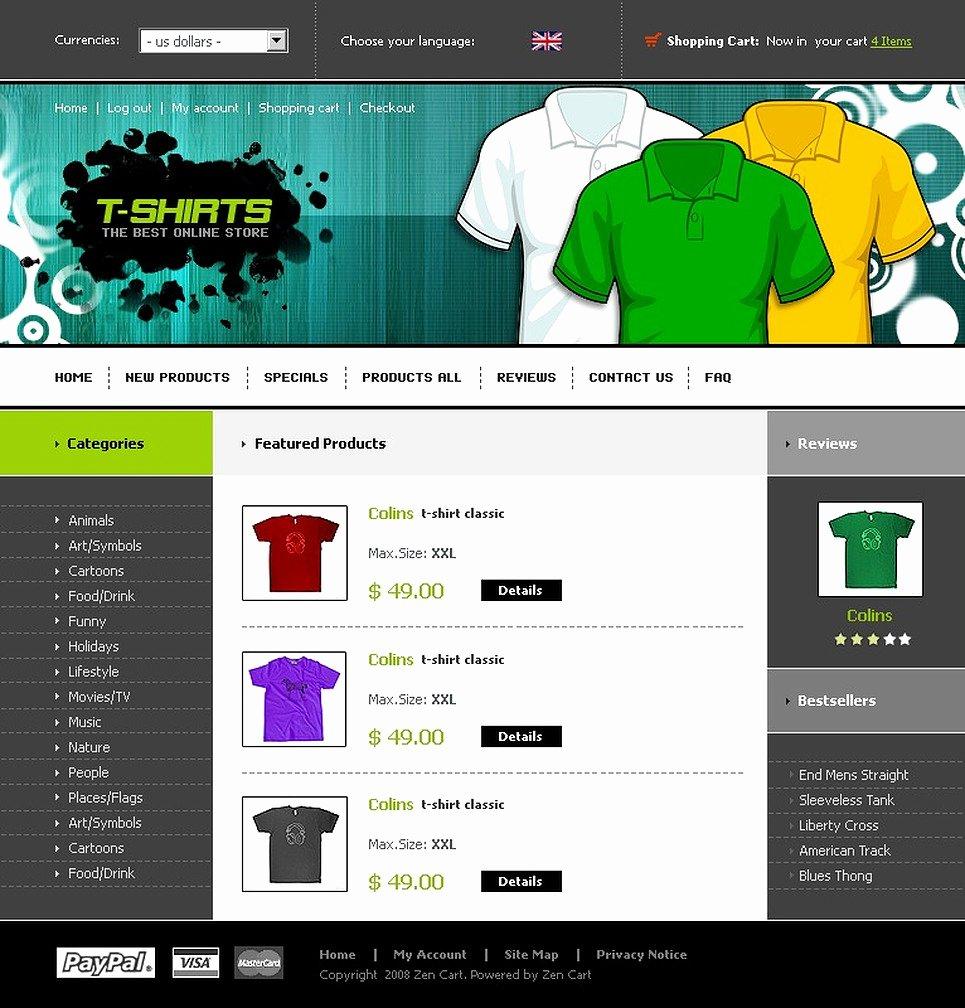 T Shirt Website Template Best Of T Shirt Shop Zencart Template Web Design Templates