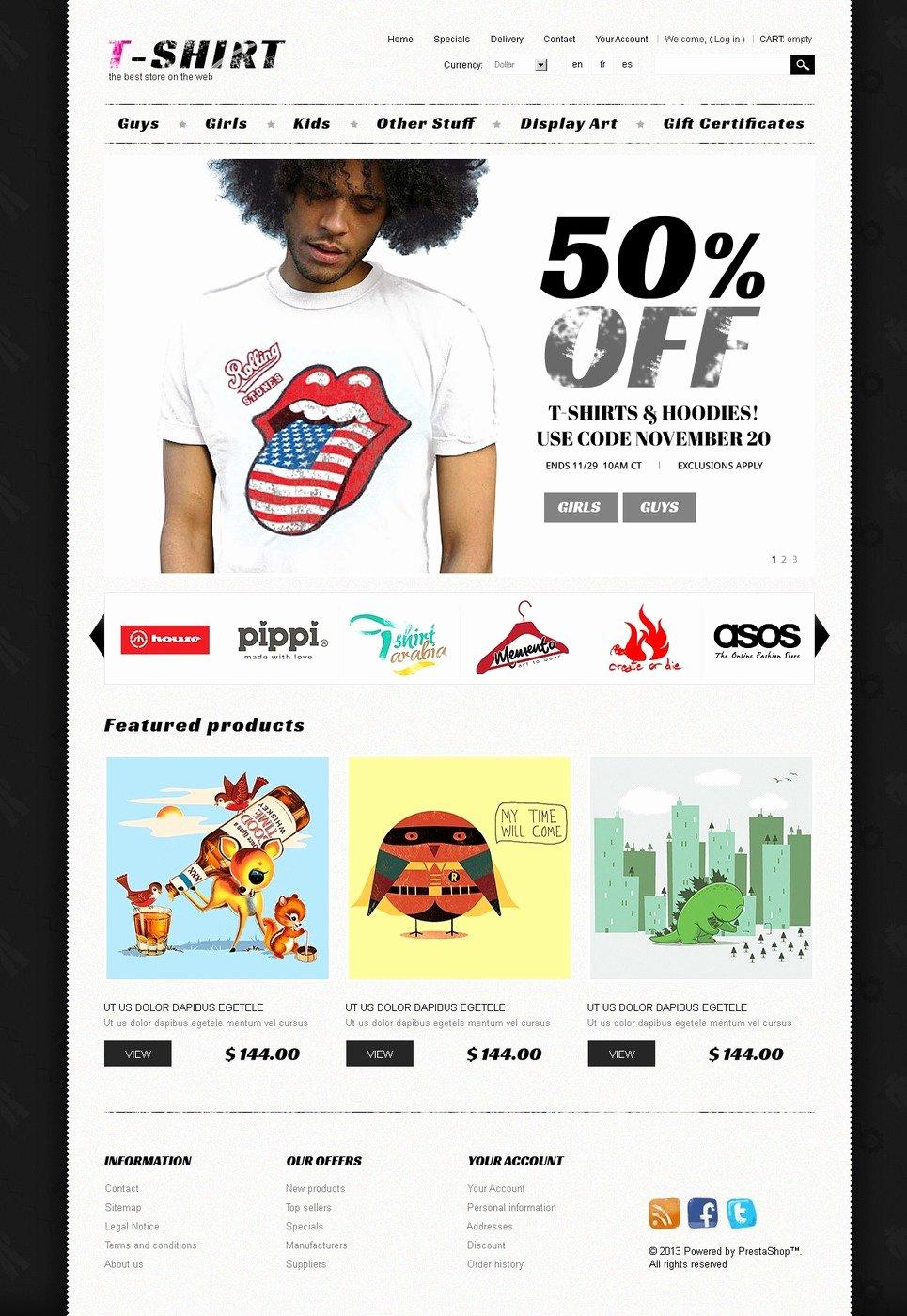 T Shirt Website Template Best Of T Shirts Prestashop theme Web Design Templates Website