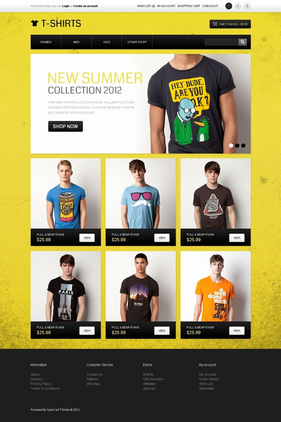 T Shirt Website Template Luxury Funny T Shirts Opencart Template Web Design Templates