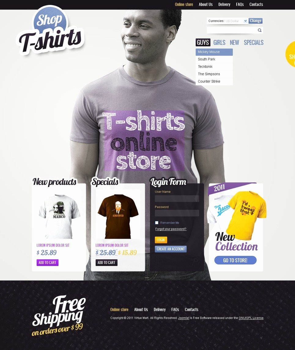 T Shirt Website Template Luxury T Shirt Shop Virtuemart Template Web Design Templates