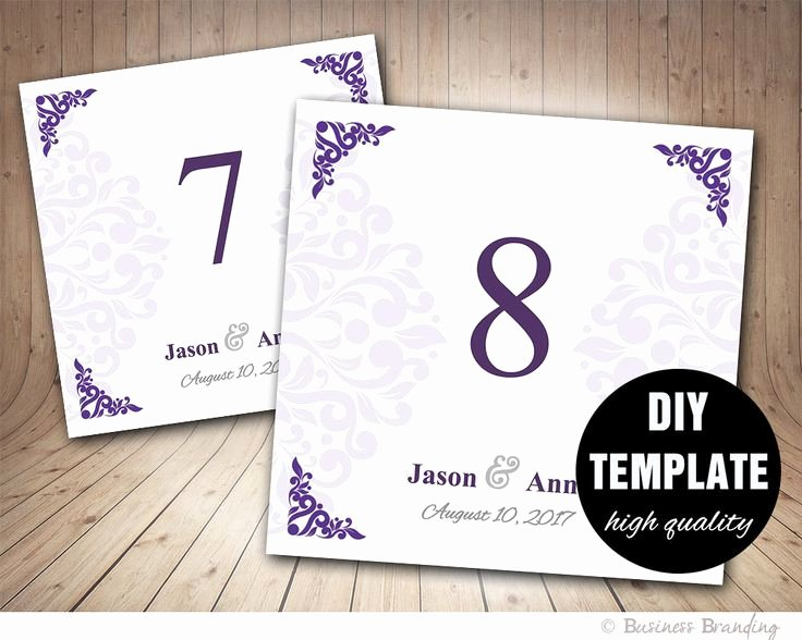 Table Number Cards Template Awesome Best 25 Number Template Printable Ideas On Pinterest