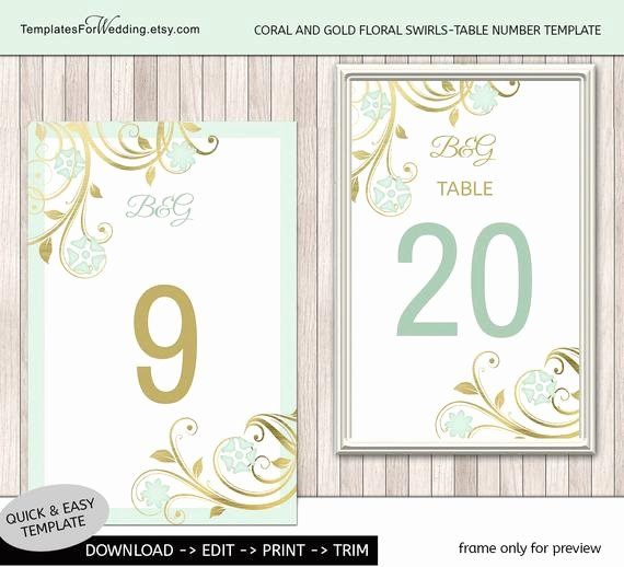 Table Number Cards Template Best Of Items Similar to Table Number Insert Template Wedding