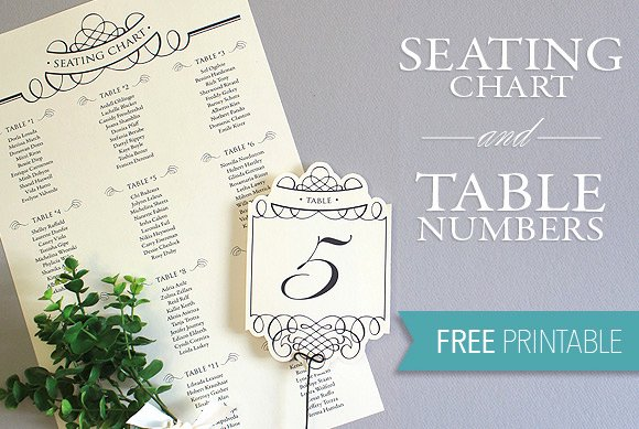 Table Number Cards Template Lovely Elegant Diy Table Numbers Seating Chart