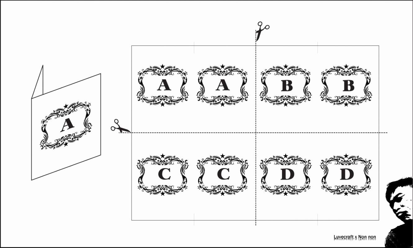 Table Number Cards Template Unique Table Card Template