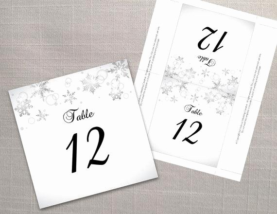 diy printable wedding table number fold