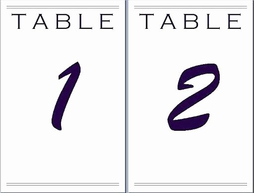 Table Number Template Word Beautiful Table Template Microsoft Word Wedding Place Card Templates