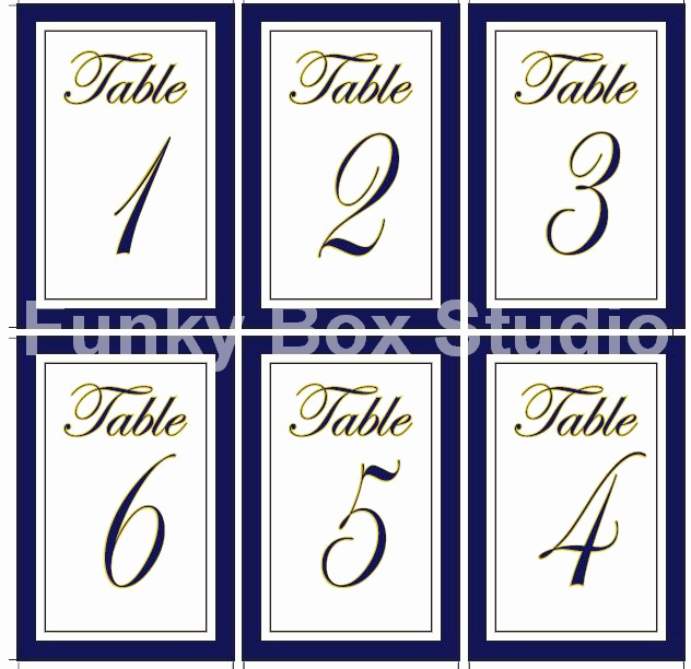 Table Number Template Word Elegant Free Table Numbers Templates Targer Golden Dragon