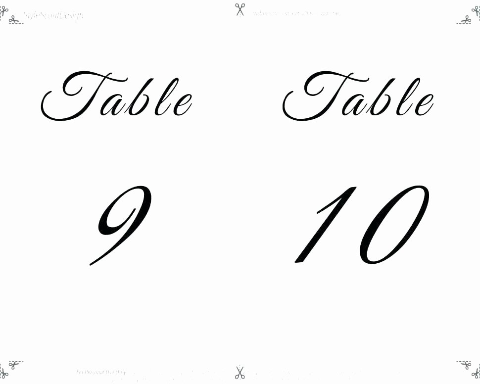 Table Number Template Word Elegant Table Tent Template Word 2013 Red Poppy Table Number