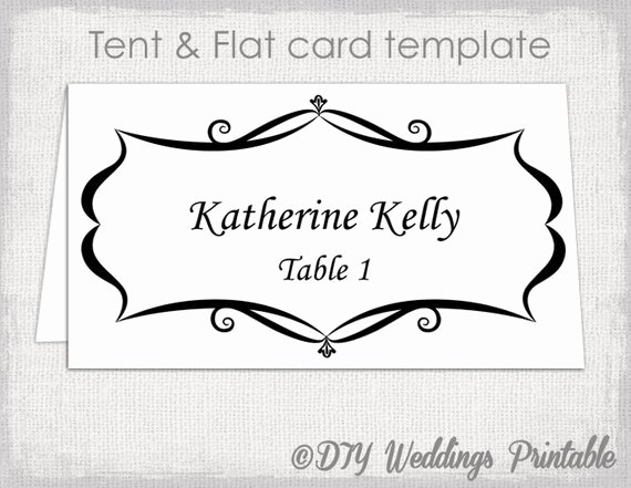 Table Number Template Word Fresh Place Card Template Tent and Flat Name Card Templates