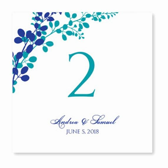 Table Number Template Word Fresh Wedding Table Number Card Template Instant by Karmakweddings