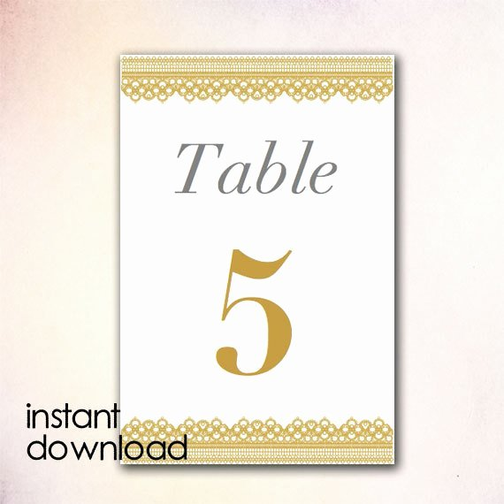 Table Number Template Word Inspirational Diy Table Numbers Template Instant Download by Cheapobride